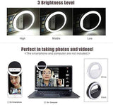 Selfie Light Wide Angle Rechargeable Fill-in Light for Mobile Phone Android Laptops Tablets Ring Flash (Multi-color)