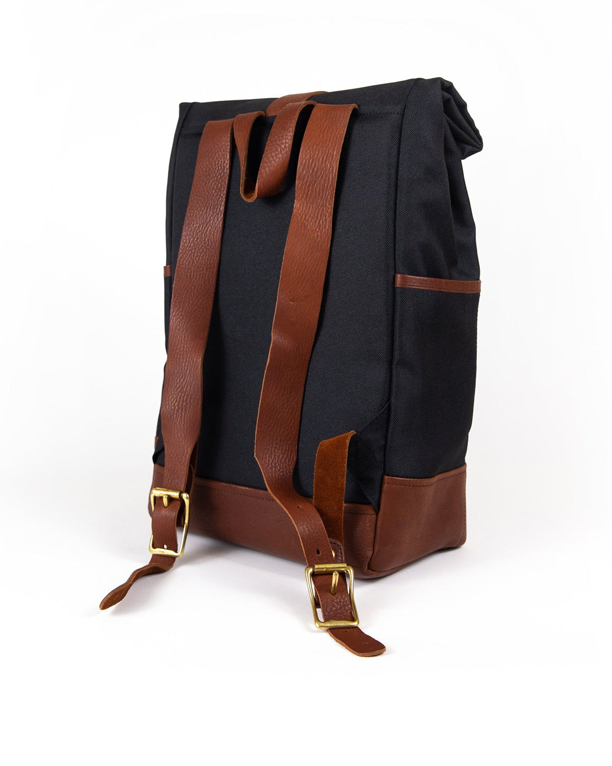 Daypack in Black with Brown Leather