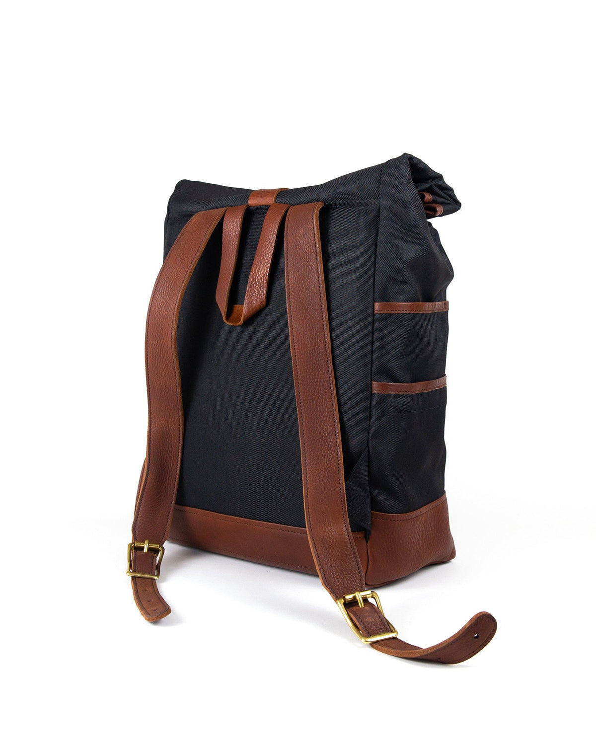Weekender in Black with Brown Leather