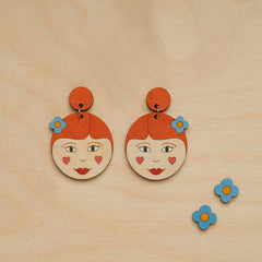Suzy and Suzette earrings by Oolala Design
