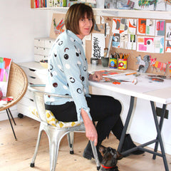 Clare Youngs in her studio