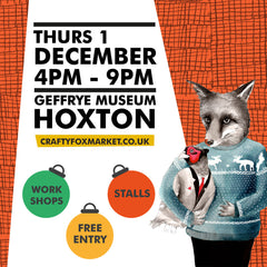 Winter Crafty Fox Market at Geffrye Museum December 2016