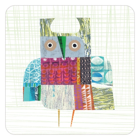 Jenny Duff Clare Youngs table mats placemats bright owl design