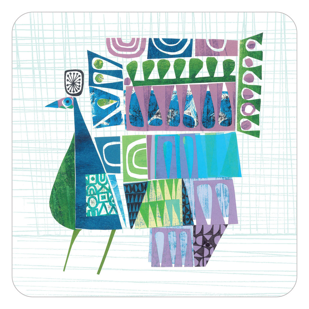 Jenny Duff Clare Youngs table mats placemats parading peacock design