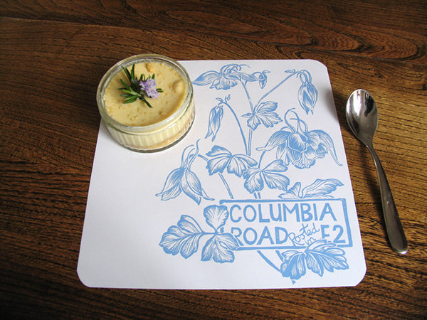 Jenny Duff mats Rebecca Cole Artichoke Place London Melamine tablemat