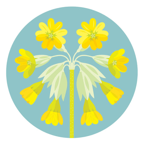 GB Flowers: Cowslip table mats in 3 sizes & coasters
