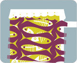 Jenny Duff Gillian Blease food design table mat placemat coaster fish stock