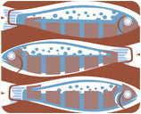 Jenny Duff Gillian Blease food design table mat placemat coaster fish grilled mackerel