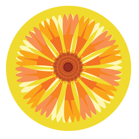 Jenny Duff Gillian Blease flower helenium mats coasters placemats corkbacked Melamine Made in Britain
