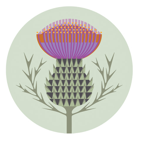 Jenny Duff Gillian Blease table mat tablemat coaster place mat placemat Melamine Thistle design