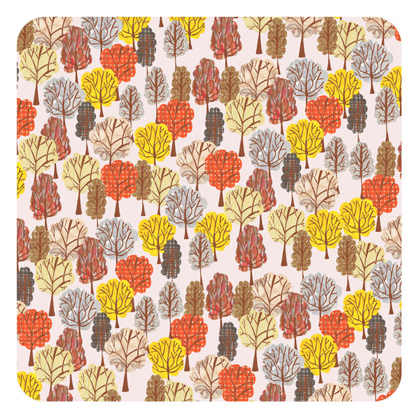 Jenny Duff Lindsay Marsden Autumn square table mat small print