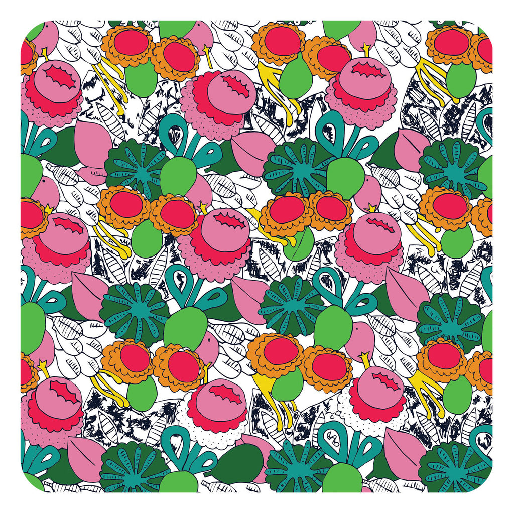 Jenny Duff Lindsay Marsden The Black Rabbit table mats placemats Beautiful Brights Bouquet design