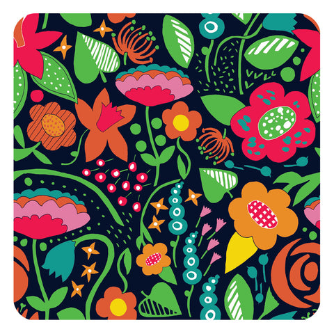 Jenny Duff Lindsay Marsden The Black Rabbit table mats placemats Beautiful Brights Bouquet Festoon design