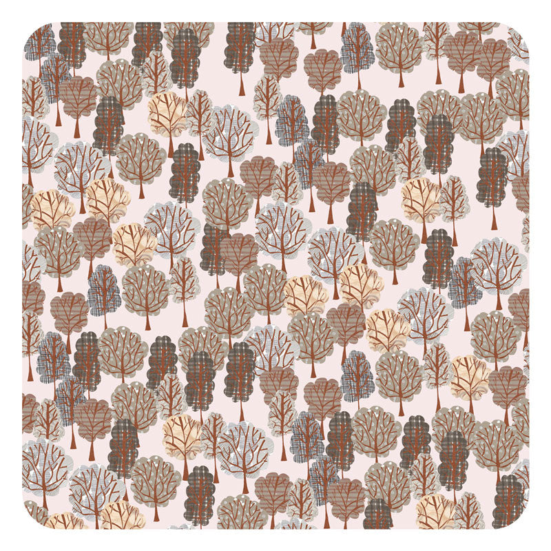 Jenny Duff Lindsay Marsden Winter square table mat small print