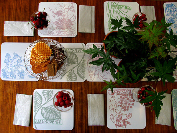 Jenny Duff mats Rebecca Cole Rooted In London Melamine tablemat