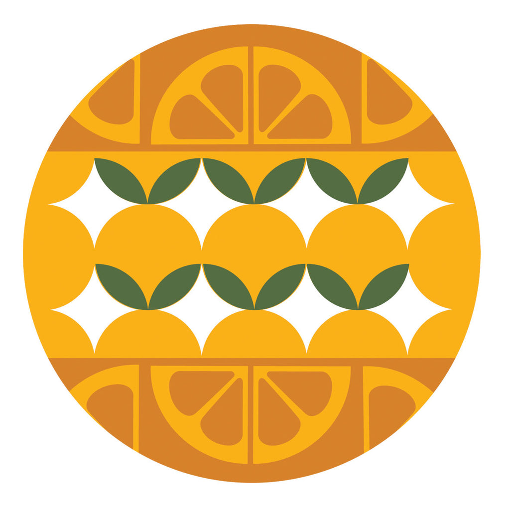 Jenny Duff Gillian Blease oranges dinner tablemat placemat coaster