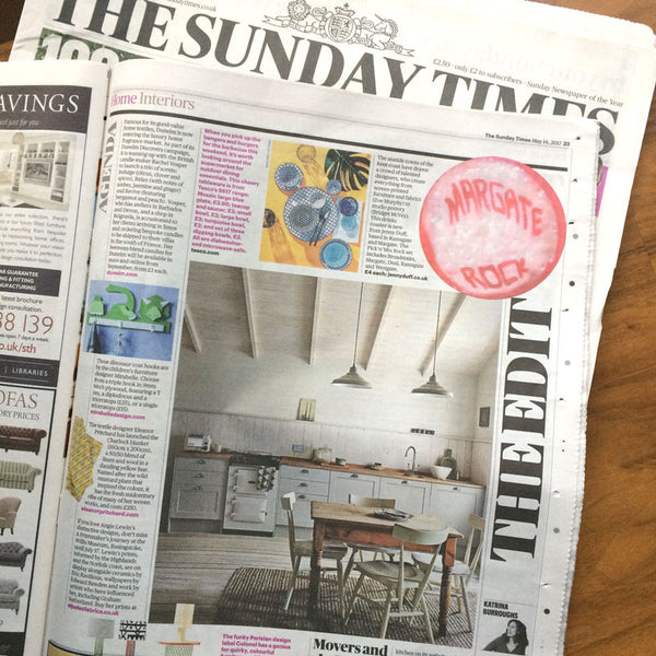 Jenny Duff Rock coasters The Sunday Times Katrina Burroughs newspaper