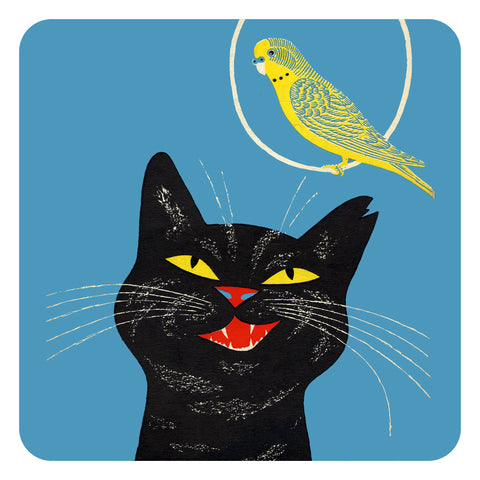 Jenny Duff Country Fair Animal John Hanna tablemats place mats coasters Cat Budgie Canary