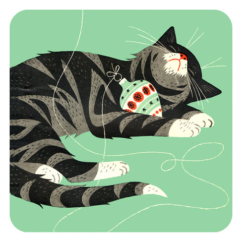 Jenny Duff Country Fair cat and Christmas bauble