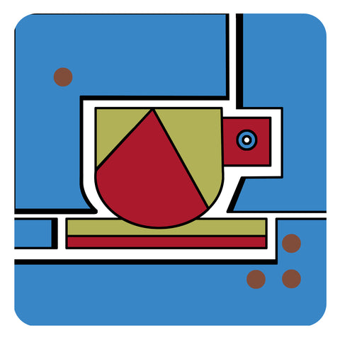 Jenny Duff Bauhaus inspired Cup design melamine placemat table mat tablemat made in Britain