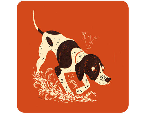Jenny Duff Melamine table mat place mat coaster John Hanna Pointer dog
