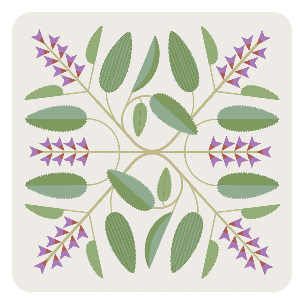 Jenny Duff Gillian Blease sage herb table mat placemat coaster melamine tablesetting breakfast lunch dinner food