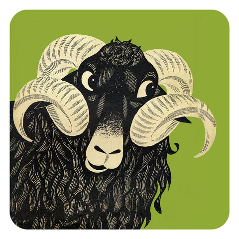 Jenny Duff Country Fair Animal John Hanna tablemats place mats coasters Sheep ram