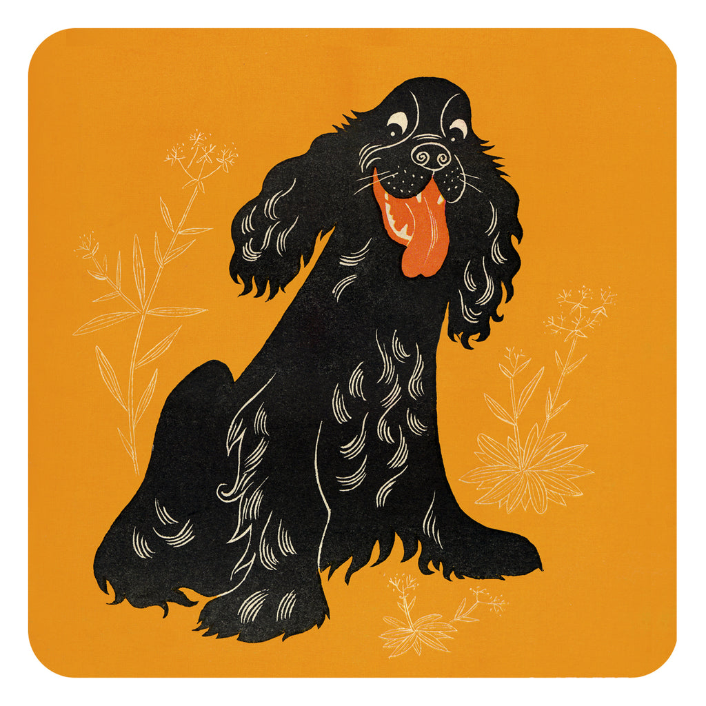 Jenny Duff Country Fair Animal John Hanna tablemats place mats coasters Spaniel