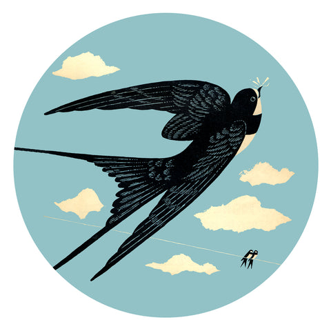 Jenny Duff Swallow design Melamine coaster Country Fair John Hanna