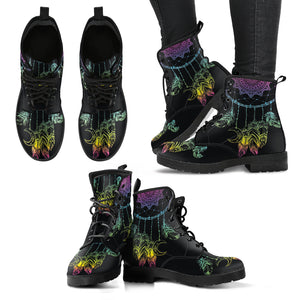 Colorful Dream Catcher Women's Leather Boots