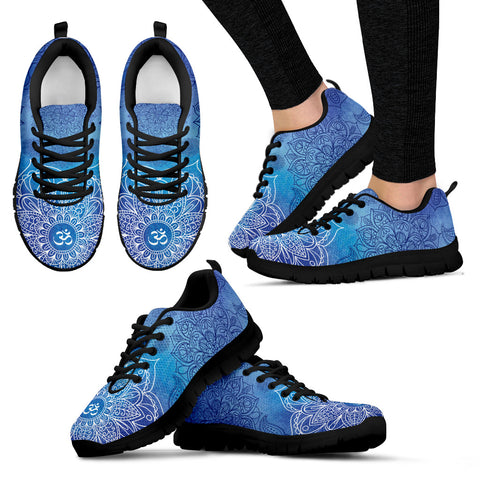 Budding Flower Women's Sneakers (Black)