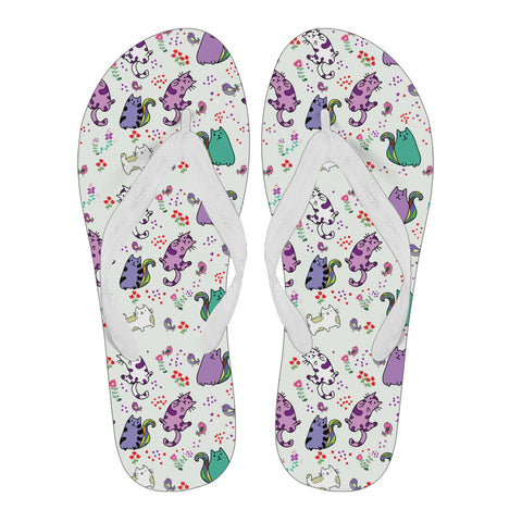 Purple Cat Women's Flip Flops