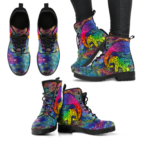 Colorful Elephant Handcrafted Boots