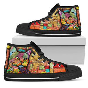 Colorful cat Women's High Top