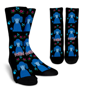 Faithful Poodles Socks for Poodle Dog Lovers Blue