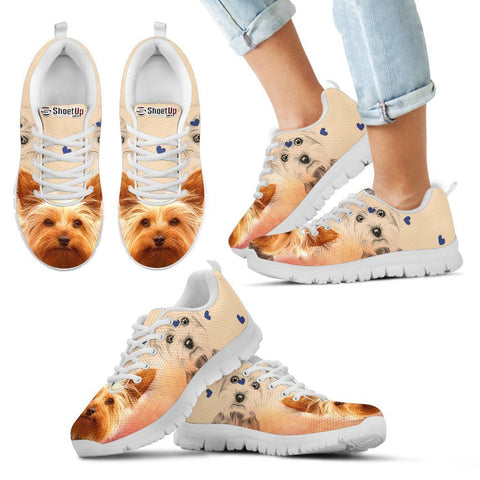 Cute Yorkshire Terrier Print Running Shoes For Kids
