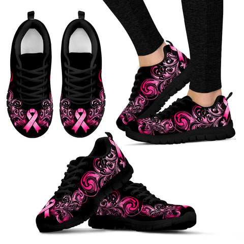 Breast Cancer Awareness (Black) Women's Sneakers