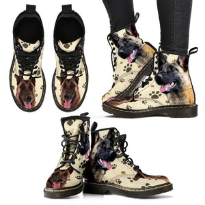 Belgian Malinois Print Boots For WomenExpress Shipping