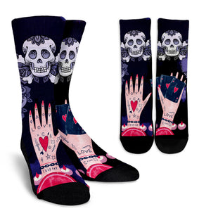 Love Ink Socks for Lovers of Tattoos and Skulls