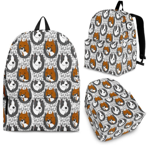 American Staffordshire Terrier Dog Print BackpackExpress Shipping