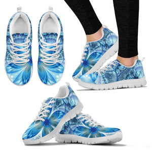 Flower Fractal Handcrafted White Sole Sneakers