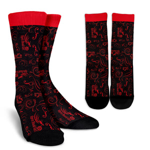RED Open Road Girl Socks