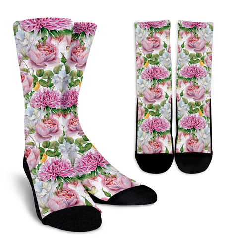 Watercolor Floral Socks