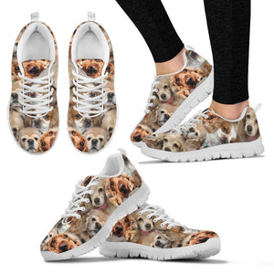 Cocker Spaniel Pattern Print Sneakers For Women Express Shipping