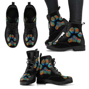 Colorful paw Women's Boots