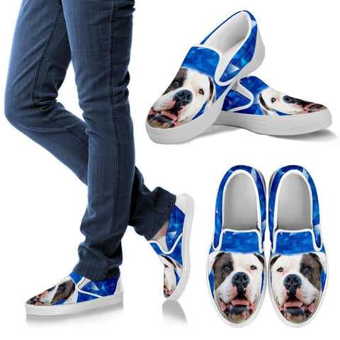Image of American Bulldog Print Slip Ons For Women Express Shipping