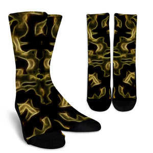 Fractal Camo Socks Green for Camouflage Lovers