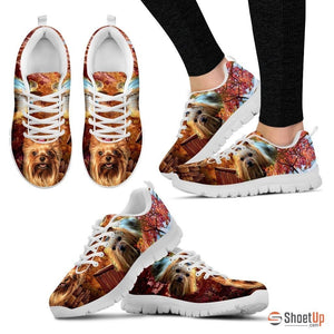 Cute Yorkshire Terrier Dog Print Running Shoe For Women