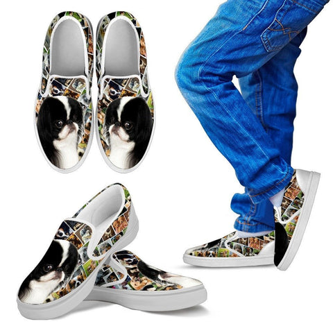 Amazing Japanese Chin Dog Print Slip Ons For KidsExpress Shipping