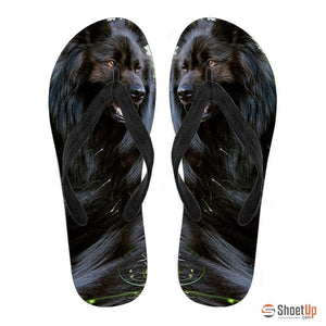 Belgian Sheepdog Flip Flops For Women